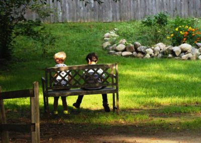 Young HVWS Friends on a bench.
